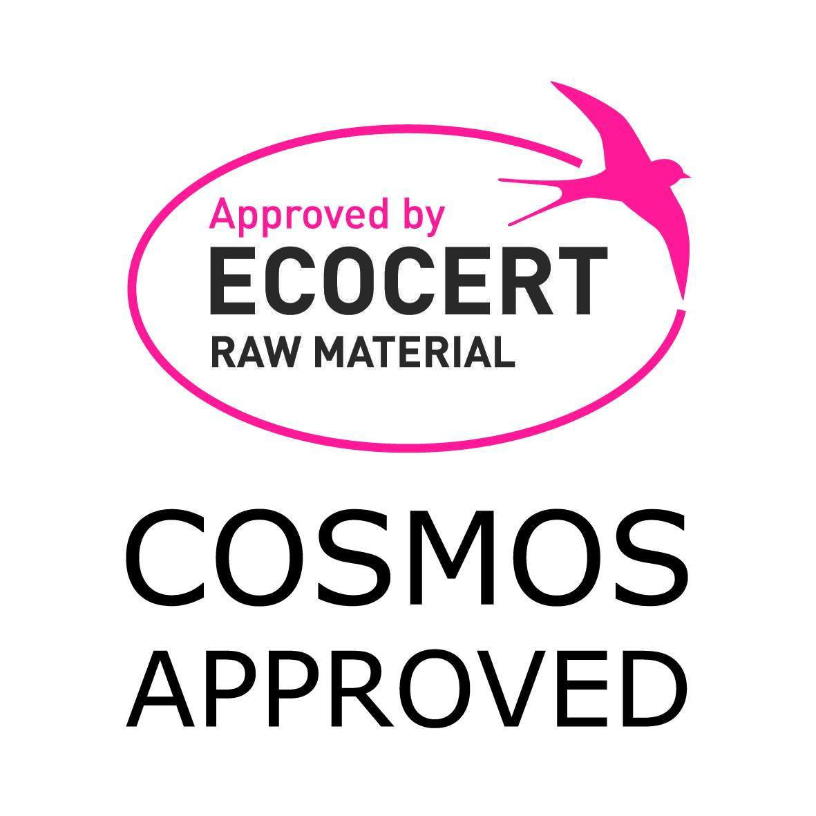 COSMOS and ECOCERT approved logo for Croda ingredients.Formulators looking to create natural personal care products for consumers can utilise this certification to indicate natural ingredients.